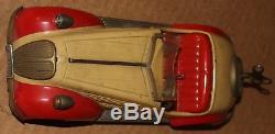 Vintage Wind Up Distler Wandere D-3150 Litho Car Tin Toy, Germany BMW
