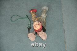 Vintage Wind Up Litho Acrobat Clown / Joker Tin Toy, Japan