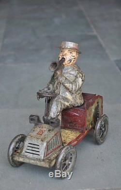 Vintage Wind Up Litho TUT TUT Lehamnn Tin Toy, Germany