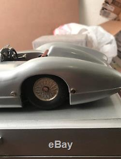 Vintage Wind Up Marklin Mercedes Racer In Wood Box