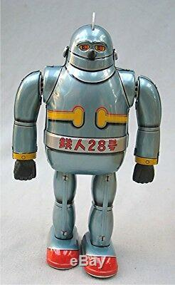 Vintage Wind Up Tetsujin 28 Robot with Box by Osaka Tin Toy Institute