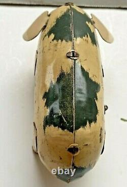 Vintage Wind Up Tin Toy Lucky PIG Made in U. S. Zone Germany Works