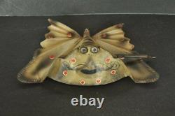 Vintage Wind Up Unique Litho Butterfly Big Tin Toy, Collectible