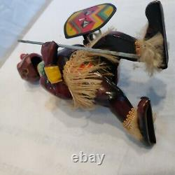 Vintage Wind-up Tin Toy PANGO PANGO African Dancer Native Japan Rare Working WoW