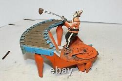Vintage Wolverine Zilotone Xylophone Mechanical Wind-up Toy