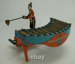 Vintage Wolverine Zilotone Xylophone Mechanical Wind-up Toy with 3 Discs