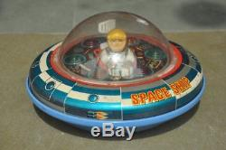 Vintage X-5 Space Ship MT Trademark Battery Litho Tin Toy, Japan