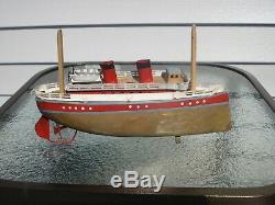Vintage antique tin toy boat bing, carette, fleischmann
