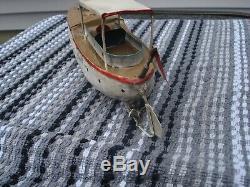 Vintage antique tin toy boat bing, carette, fleischmann, Ives