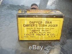 Vintage antique tin wind up Dapper Dan Jigger