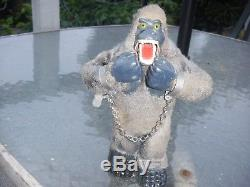 Vintage antique tin wind up King Kong