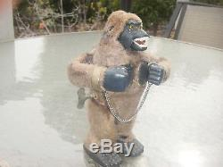 Vintage antique tin wind up King Kong Gorilla