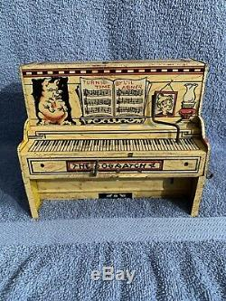 Vintage antique tin wind up Lil Abner's Dog Patch Band, It works, Jigger toy