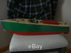 Vintage antique tin wind up toys boat orkin, bing carette