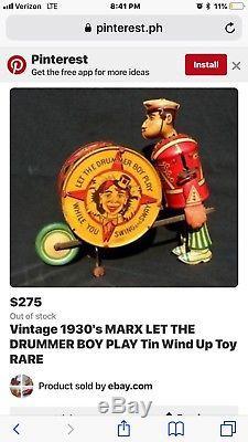 Vintage marx tin toys