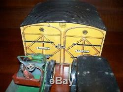 Vintage wind up toy OROBR GARAGE & THE TWO CARS
