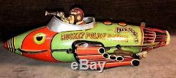 Vtg Buck Rogers Rocket Police Patrol Wind Up Toy Louis Marx & Co Pre 1940 MS50