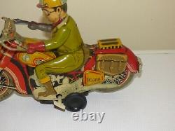 Vtg Greek''bmw 743'' Motorcycle By Ananias Ananiadis Wind Up Tin Toy Ultra Rare