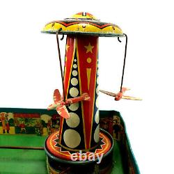 Wyandotte Carnival Circus, Tin Litho Lever Wind-Up Vintage1930's