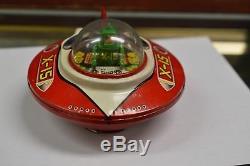 X-15 Flying Saucer UFO Yoshiya KO Japan Crank Wind-up Friction vintage space toy