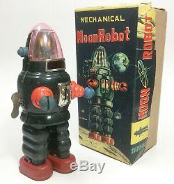 Yonezawa Mechanical Moon Robot Japanese tin wind-up vintage 1960's sparky toy
