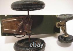 Zany Antique Tin Wind Up Toy Jumpin Jeep 5 1/2 Marx 1940 Works Well